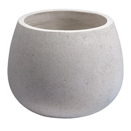 Heal S Light Terrazzo Large Round Bolla Planter White