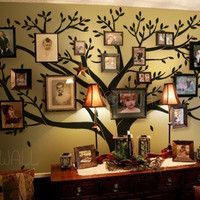 This is just cool ... wish I had a wall for it!  Tree Wall Decals Wall Stickers - Family Tree Wall decal - Photo frame tree decal