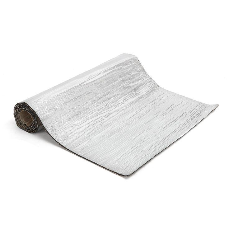 300x100cm 5mm Car Sound-proofing Deadening Insulation Foam Mat W/Aluminum Foil Silver