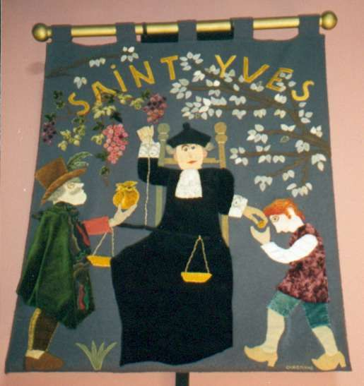 Bannière du relais de Saint-Yves, paroisse de Lannion (22).