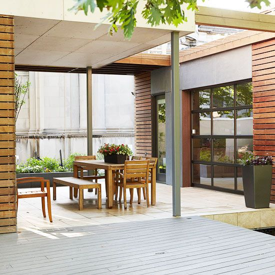 Connect to the IndoorsGarages Doors, Indoor Room, Decks Ideas, Outdoor Rooms, Indoor Outdoor, Outdoor Living Spaces, Room Ideas, Architecture Ideas, Outdoor Living Area