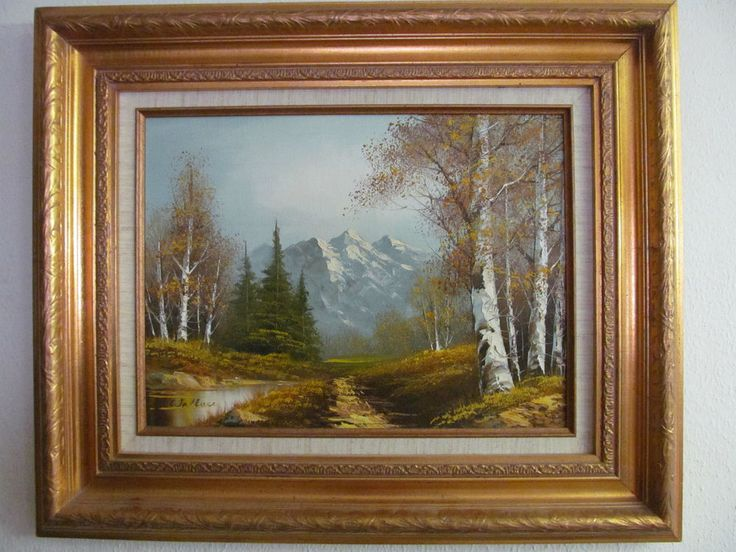 Mountain Landscape Oil Painting Signed Wallace Ebay