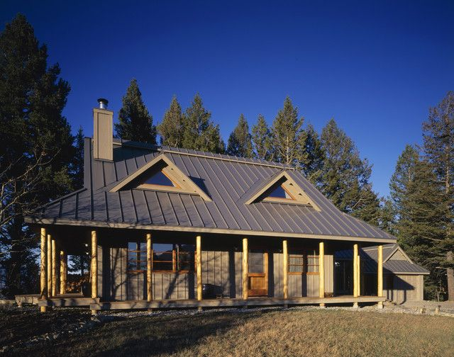 25 best ideas about metal homes on pinterest metal barn for Industrial farmhouse exterior