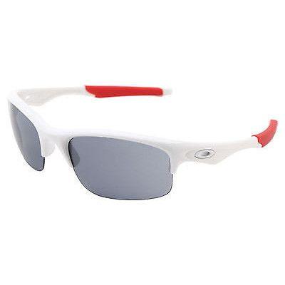 Oakley Bottle Rocket Sunglasses Polished White Frame Grey Lens Red Ear OO9164-09