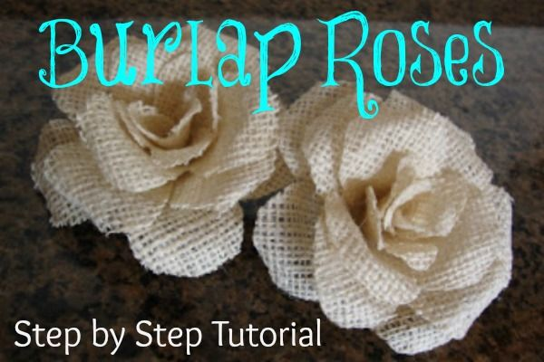 Burlap Rose Tutorial  This is a grate tutorial!! would probably work with wool, corduroy, satin..gonna try this one