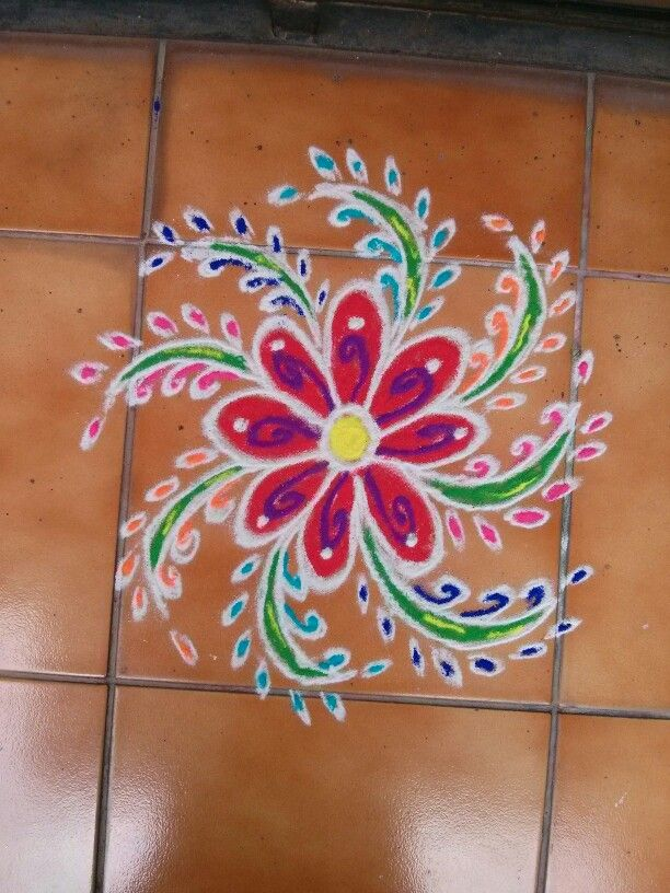 Flower rangoli!!