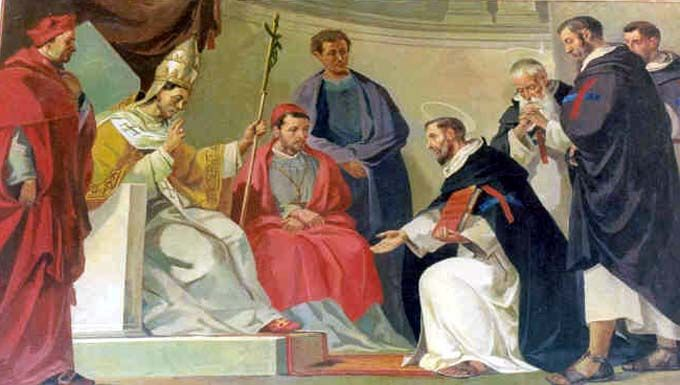 St. John of Matha receiving the approved Order from Pope Innocent III