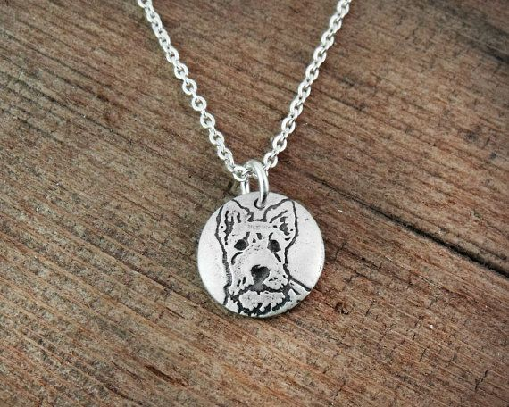 Tiny Scottie necklace Scottish Terrier necklace by lulubugjewelry