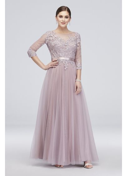 baa35183364c Long Ballgown 3/4 Sleeves Formal Dresses Dress - Cachet | Gowns in ...