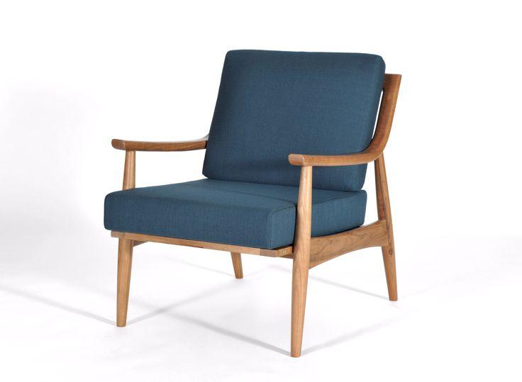 Adam Chair Natural Walnut Mid Century Modern Upholstery