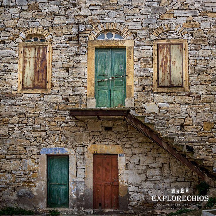 Doors at Koini village, Southern Chios