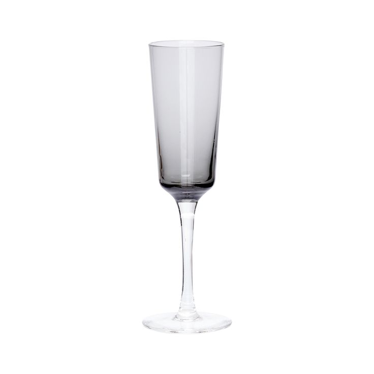 Grey champagne glass. Product number: 480301 - Designed by Hübsch