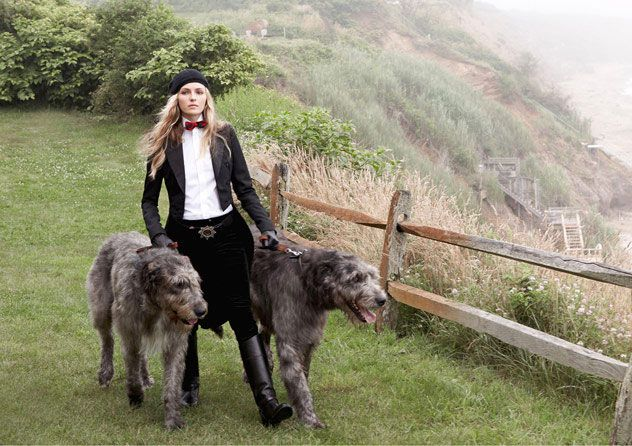 Pretty! I love the Irish Wolf Hounds - very pretty/cool dogs - gentle giants, I would love to have one someday!  Velvet and tweed