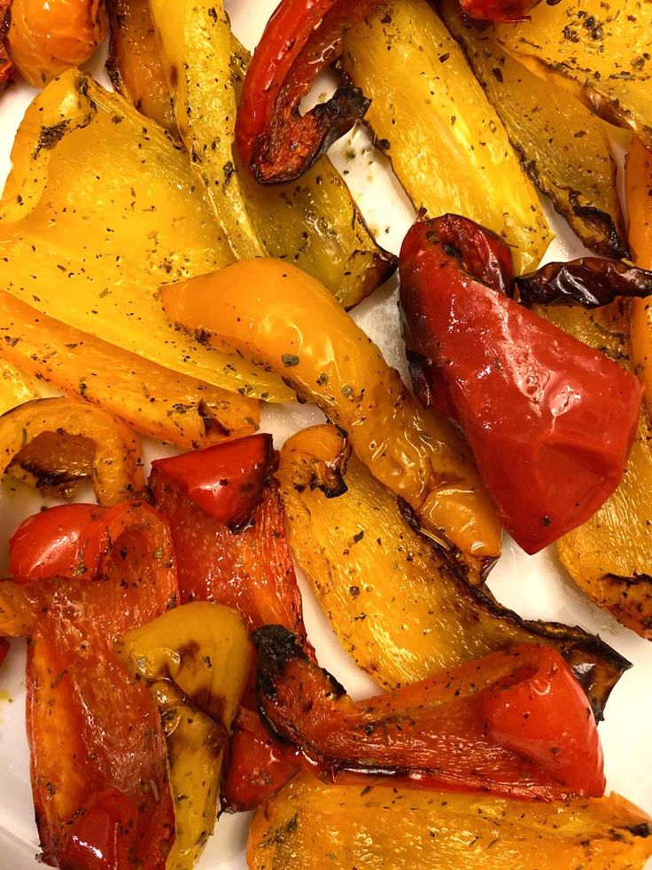 Air Fryer Roasted Bell Peppers Recipe in 2020 Stuffed