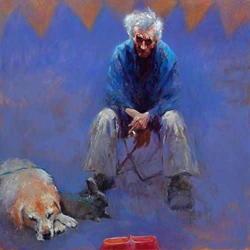 Dinie Boogaert, Strange Circus, oil, 170x170cm