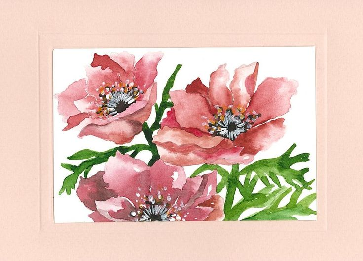 Birthday Cards Paintings ~ Best my works watercolor paintings birthday cards images on