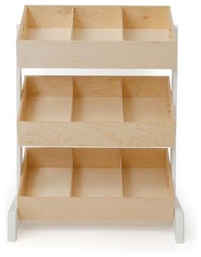 Oeuf Classic Toy Storage, Natural modern-toy-organizers Design a Small-Space Nursery Setting up a nursery should be a pleasure, but when you're working with tight space constraints, finding the right furnishings can be a challenge. These space-saving cribs, smart storage options and small-space-friendly designs from the Houzz Shop should help make your search easier.