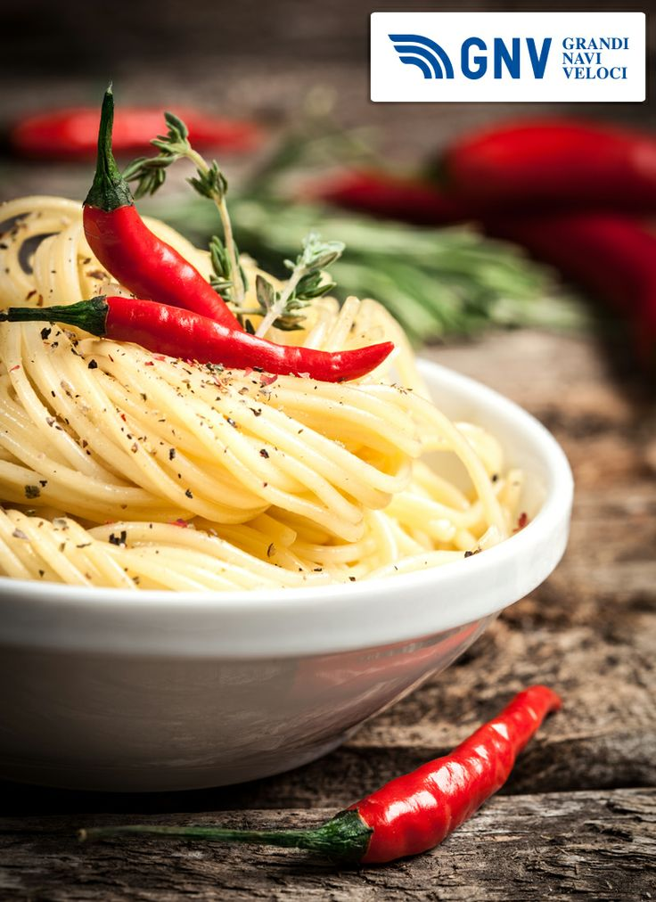 A typical #Italian #dish? #Spaghetti with #chili pepper & #spice. That's #organic #food #pasta!  Discover #GNV routes from/to #Italy here: http://www.gnv.it/en.html