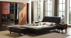 Enza home bolero siyah yatak odası modeli