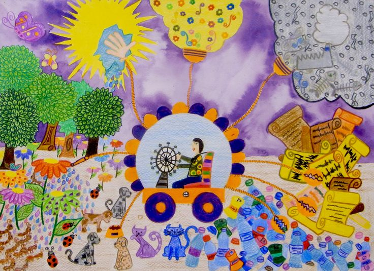 Environment Friendly Octopus - Dilara Tiraki | Toyota Dream Car Art Contest
