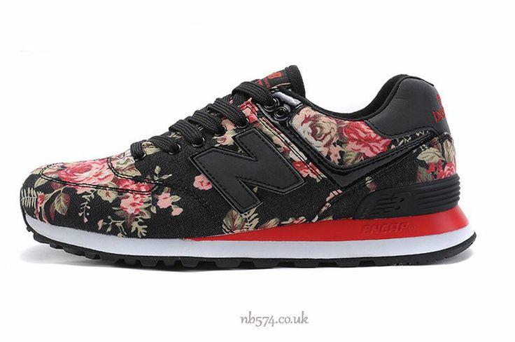 new balance 996 womens shoes flower black