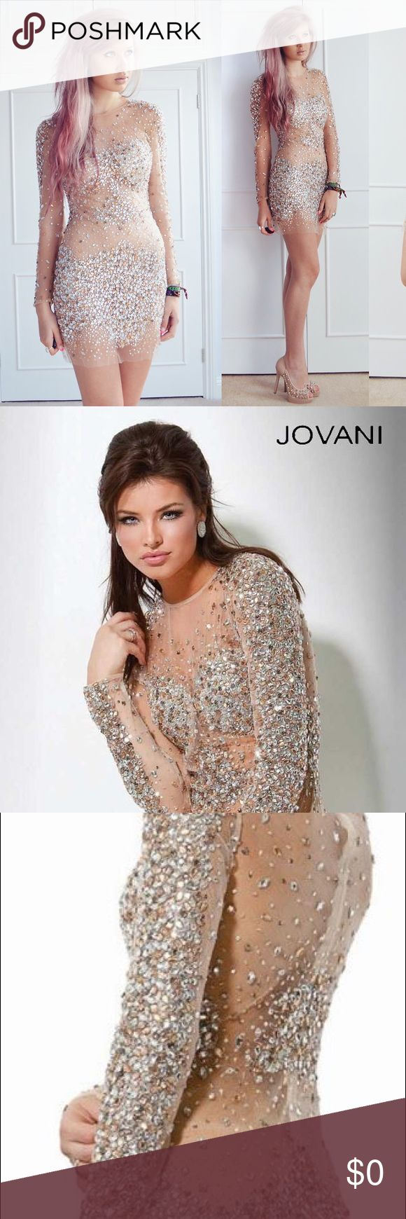 COMING SOON! Jovani Nude Sequin Dress The photos show the exact dress I have. I will be posting photos of the current condition of my dress soon. Thank you! Jovani Dresses Prom