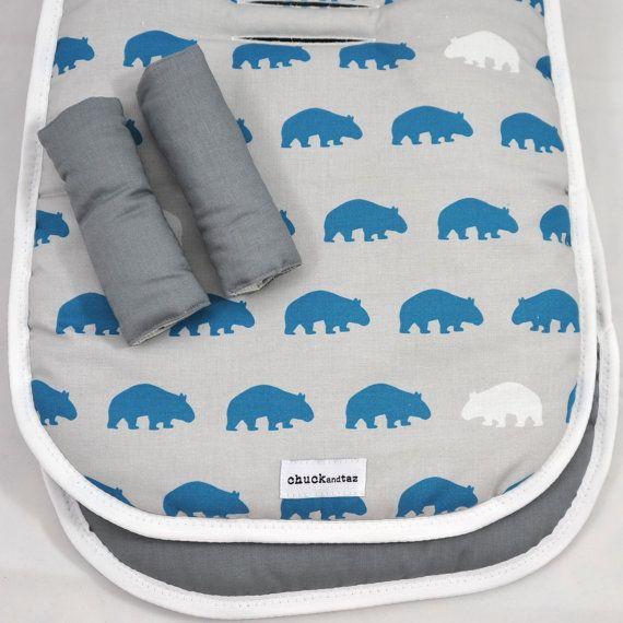 Universal Pram Liner / Stroller Liner Wombats on Etsy, $61.00 AUD