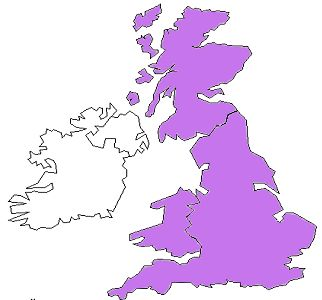 History: From the year 1801 to 1922, Ireland was under British rule. This was the result of the Acts of Union in 1800. England is the larger one on the right and Ireland is the small one on the left.