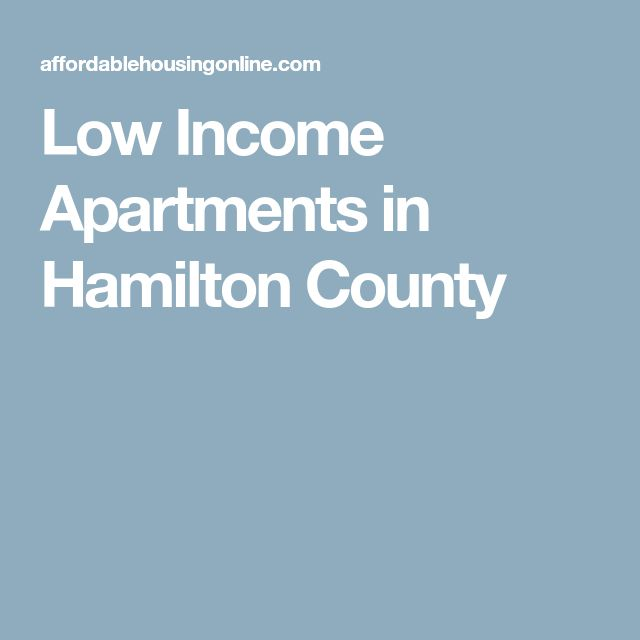 Low Income Apartments in Hamilton County