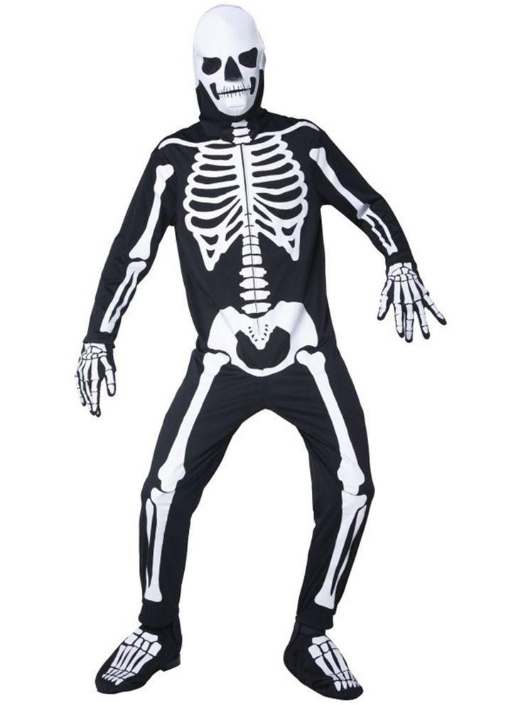 Disfraz de esqueleto brillante oscuridad para hombre