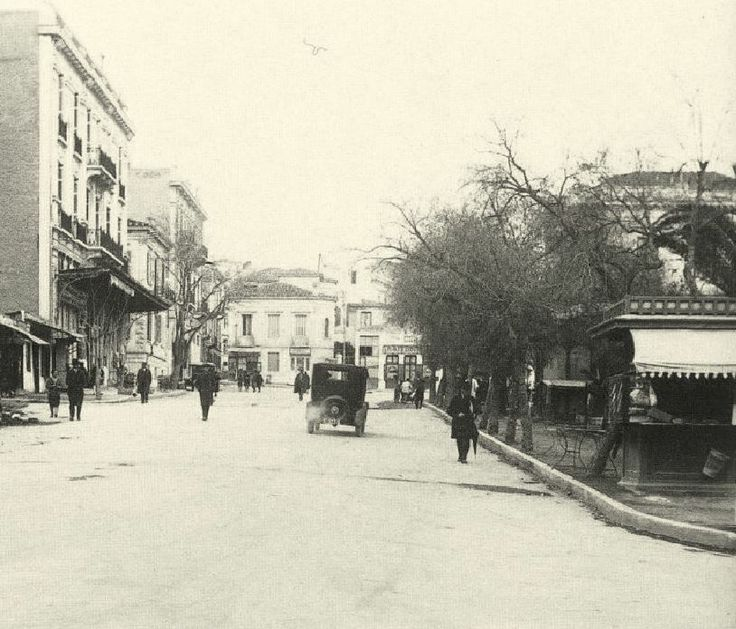 ΑΘΗΝΑ, 1926. Η πλατεία Κολωνακίου (οδός πατριάρχου Ιωακείμ).