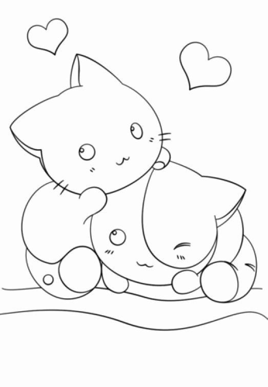 Cute Kawaii Animal Coloring Pages Beautiful Two Kawaii Kittens In Cute Coloring Page For Girls Nyan Cat Deviantart