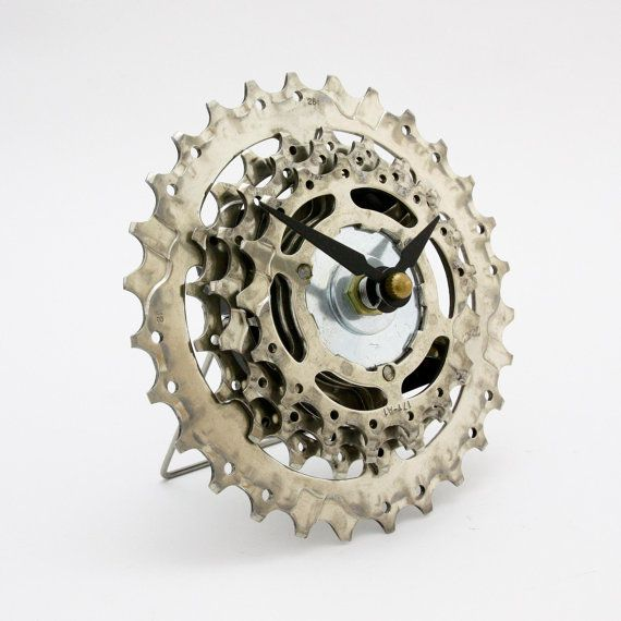 Bicycle Clock  Bike Clock  Steampunk Clock  by treadandpedals