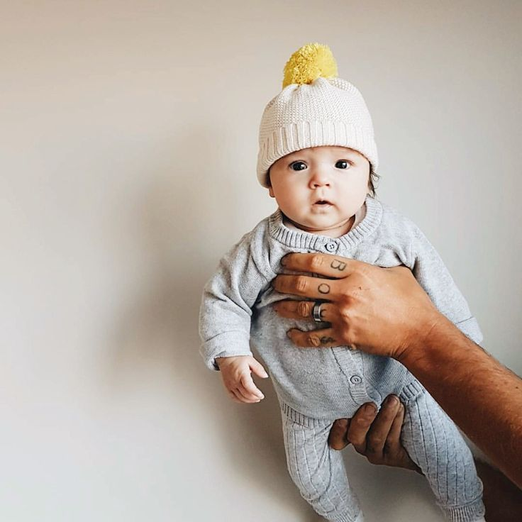Hello cutie pie! Wilso and Frenchy knitted hats keep those little heads nice and warm. #wilsonandfrenchy #babyknits #knitforkids #knittedhats