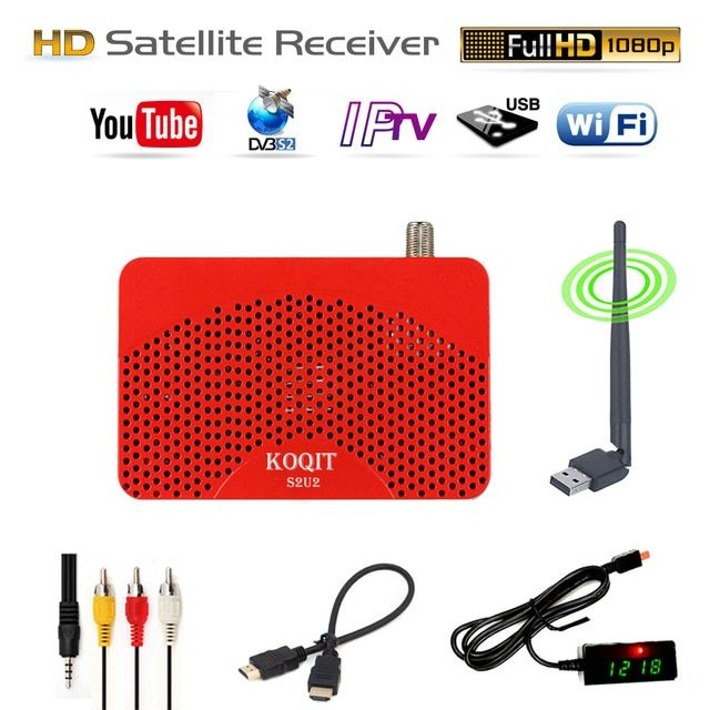 HD S2U2 IPTV m3u FTA Receiver IKS TV BOX Cline Combo Record EPG