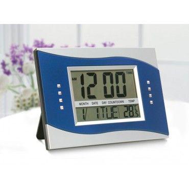 Digital LCD Clock Calendar BLUE
