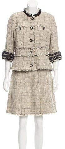 Chanel Tweed Skirt Suits. This jacket would be cute with black jeans.
