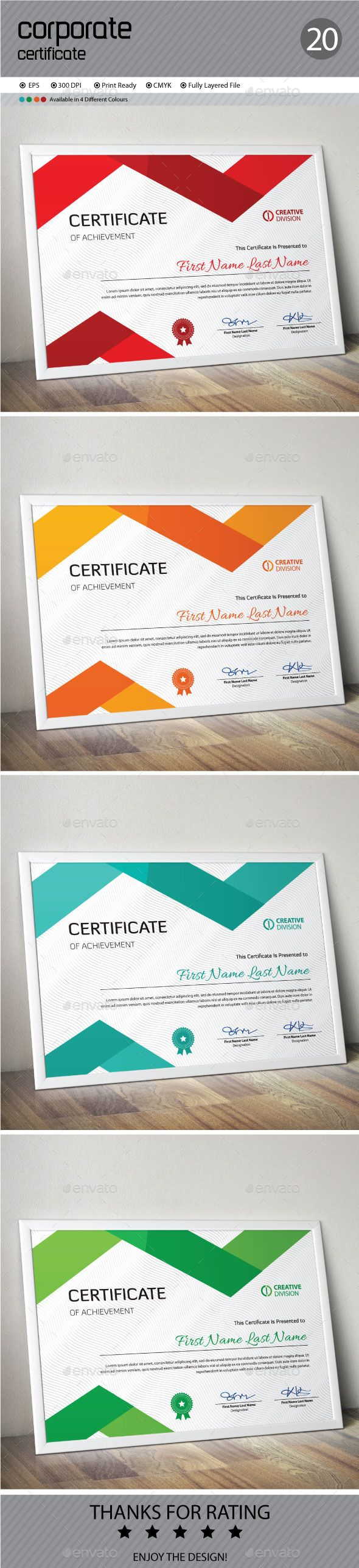 13 best certificate images on pinterest certificate templates certificate template vector eps download here httpgraphicriver yadclub Gallery