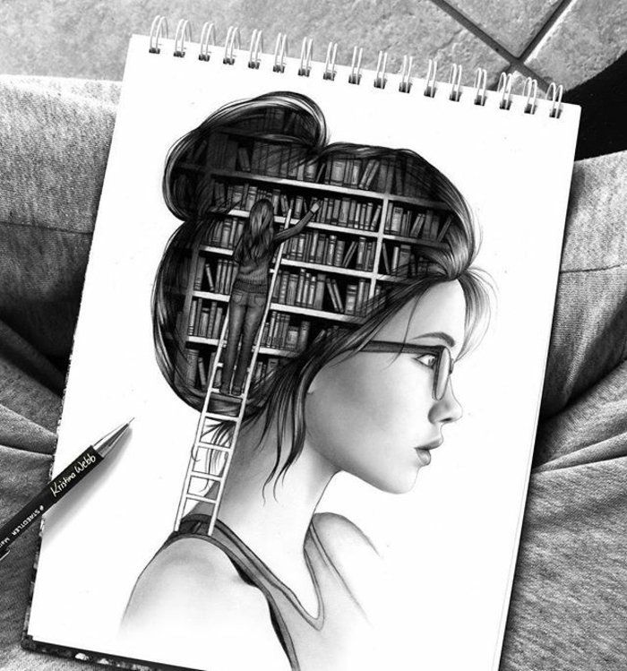 ▷ 1001 + images for drawing perfect girl – ideas for developing her creativity   – Dessiner
