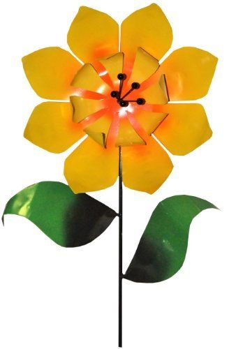 Steven Cooper Metalsmith AFLWR-06-XL Artificial Garden Flower on Footed Stake, 6-Feet, Yellow by Steven Cooper Metalsmith. $139.86. Heavy gauge steel construction. Designed for indoor or outdoor use. Instant, carefree color for your garden or home. Weatherproof and fade-resistant. Handmade in the U.S.A. by ny state artisans. This 6-Feet tall metal garden stake with its 18-Inch flower is made of durable steel. simply push it into the ground and enjoy. whimsical...
