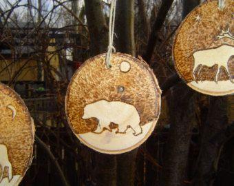 Gepersonaliseerde Baby's eerste kerst Ornament Birch