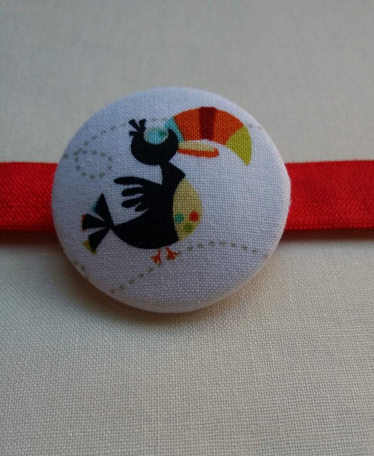 Colourful Toucan Large Button Bobble Hair Tie    Cute and Fun hair ties! Handmade by Jularoo Designs in Byron Bay Australia. www.jularoo.com