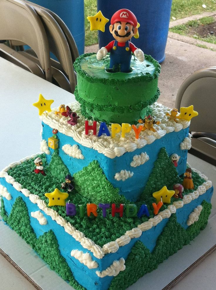 Awesome Super Mario cake!  A future birthday cake for little James?