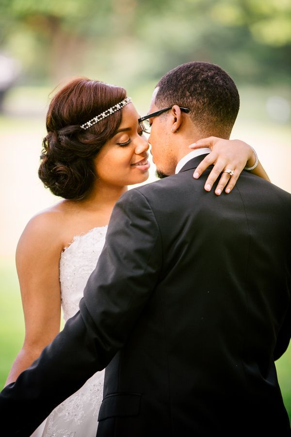 Classic Black and White Wedding by Angel Canary Photography: Salene and Keston - Munaluchi Bridal Magazine ----> HER HAIR!! Beautiful bridal hairstyles , updos, long hair, short hair, very cute and elegant wedding hairdos http://www.shorthaircutsforblackwomen.com/short-hairstyles-for-black-women/