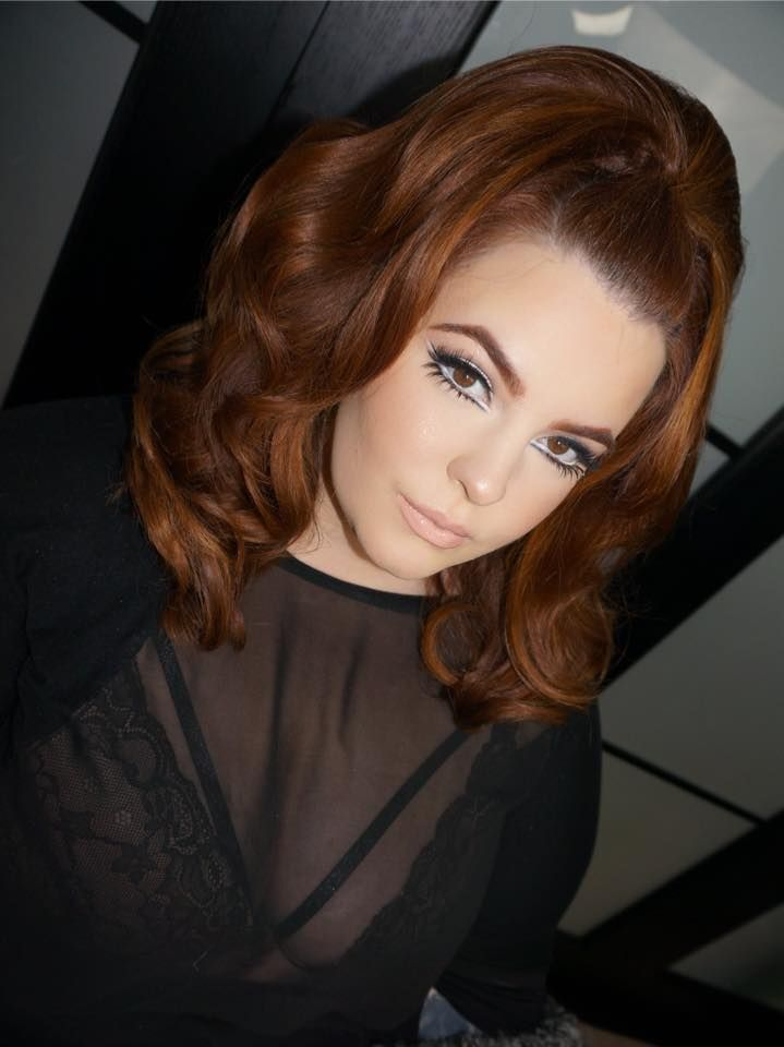 "Tess Holliday 60s Hair  |  60's heartbreaker  ""My crazy talented friend Priscilla Ono did my makeup for her next Ono Beauty School Online Makeup class! If your not signed up make sure you do on www.OnoBeautyOnline.com   Tutorial coming soon  Hair by my bb His Vintage Touch Hairstyling"""