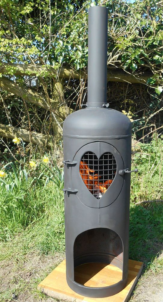 Recycled gas cylinder  so some dents are to be expected but will last for years.<br/><br/>Here we have for sale a large up-cycled Gas Cylinder - 47 kg., which has been turned into a wonderful exterior Wood Burner. This is a super bespoke Chiminea to be used to keep you warm when the sun is going down enabling you to carry on enjoying the lovely summer evenings outside. | eBay!