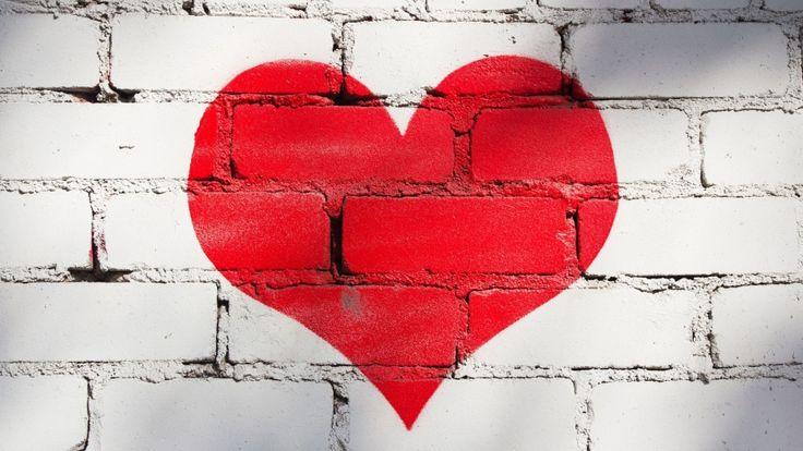 red heart wall love wallpaper download free hd
