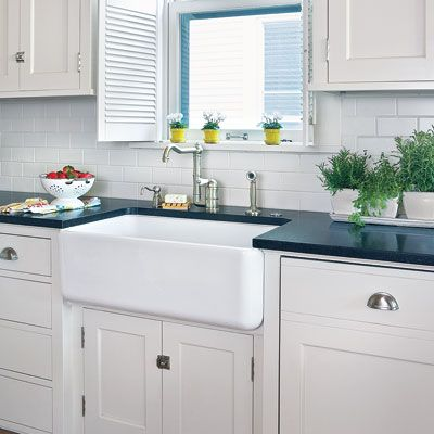 a cramped kitchen opens up to make room for the whole family - Rohl Faucets