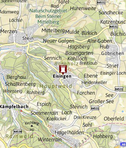 Karte / Schleifenroute DE - Historischer Stadtkern Eisingen Enzkreis