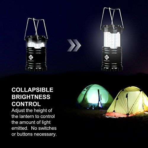 Portable Outdoor LED Camping Lantern Night Light Lamp Collapsible 4 Pack Bright #Etekcity